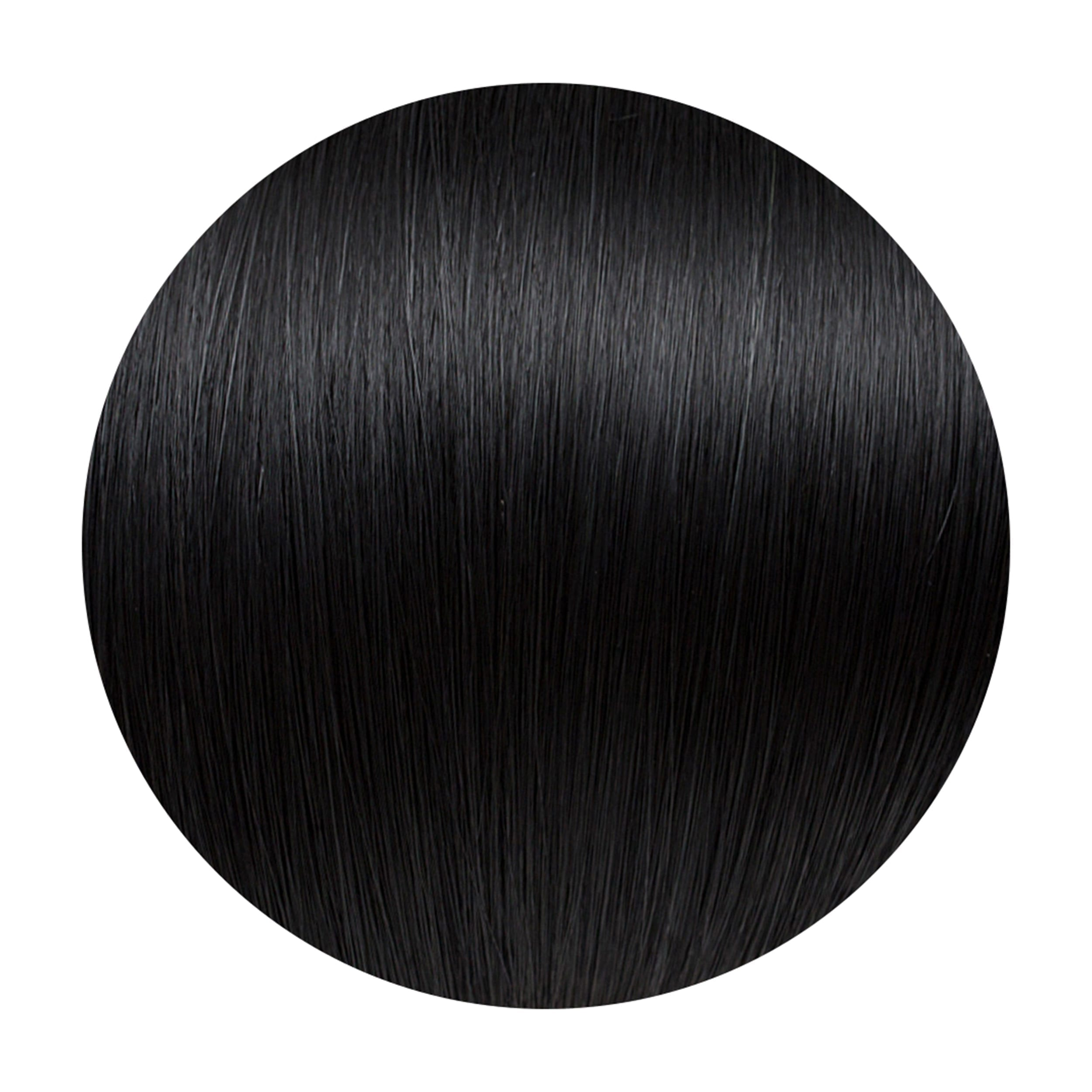 Midnight Human Hair Extensions Clip in 5 Piece